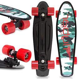 Flybar 22 Inch Complete Plastic Grip Tape Cruiser Skateboard