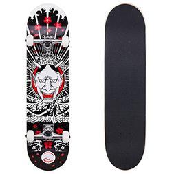 Cal 7 Complete Skateboard, Popsicle Double Kicktail Maple De