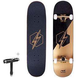 """Merkapa 31"""" Pro Complete Skateboard 7 Layer Canadian Maple D"""