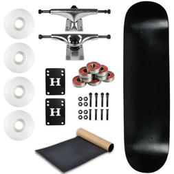 Moose Complete Skateboard DIPPED BLACK 7.75 Silver/White
