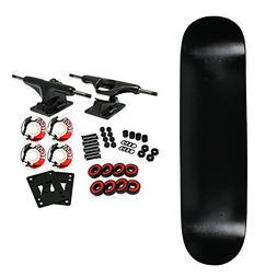 "Moose Complete Skateboard DIPPED BLACK 7.0"" Black/White"