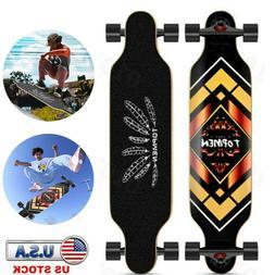 Complete Skateboard Longboard Drop Through 41 Inch Maple Dec