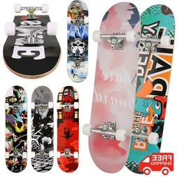 Complete Skateboard Longboard Standard Double Kick Deck Crus