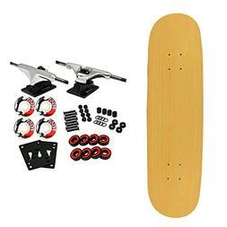 "Moose Complete Skateboard NATURAL 8.5"" Silver/White"