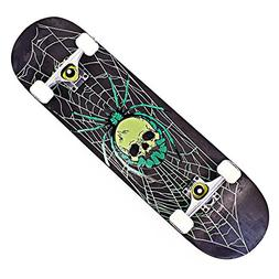 "OneHype - Pro Complete Skateboard Skull Spider 31"" x 8 inch"