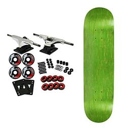 Moose Complete Skateboard STAINED GREEN 8.5 Silver/Black