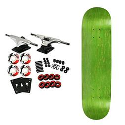 Moose Complete Skateboard STAINED GREEN 8.5 Silver/White
