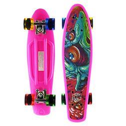 Merkapa Complete 22 inch Cruiser Skateboard for Youth, Begin