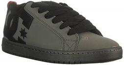 DC Men's Court Graffik Skate Shoe, Black/Black/Black, 17 M U