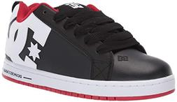 DC Men's Court Graffik Skate Shoe, red/Black/White, 10.5 M U