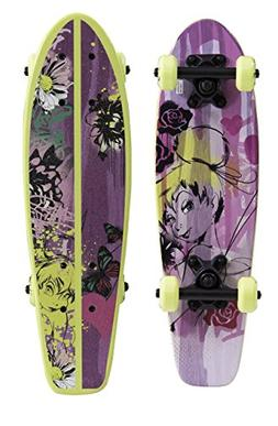 "PlayWheels Disney Fairies 21"" Wood Cruiser Skateboard - Tink"