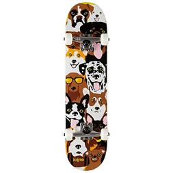 """Enjoi Dog Collage FP,Complete Skateboard,Yellow,29.8"""" L X 7."""