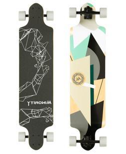 MINORITY Downhill Maple Longboard 40-inch Drop Deck Geometry