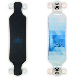 """Atom Longboards Atom Drop Deck Longboard - 39"""" , Blue Triang"""