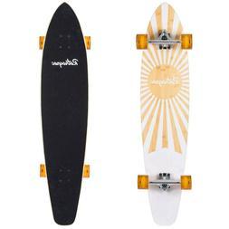 emporium zed bamboo longboard skateboard cruiser 44