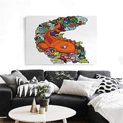 homehot Fish Canvas Wall Art for Bedroom Home Decorations Bi
