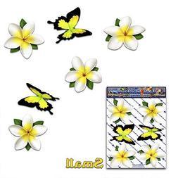FLOWER White Single Frangipani Plumeria BUTTERFLY ANIMAL Sma