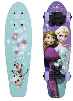 "Disney Frozen Sisters & Olaf Girls 21"" Wood Cruiser Skateboa"