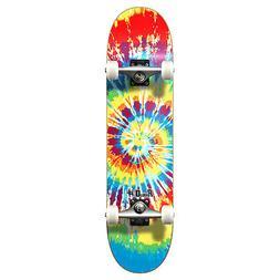 "Yocaher 7.75"" Graphic Complete Skateboard - Tiedye Original"