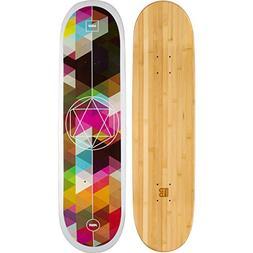 Bamboo Skateboards Graphic Skateboard Deck- More Pop, Lighte