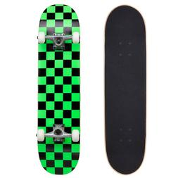 "Cal 7 Green Checkerboard 8"" Complete Popsicle Skateboard"