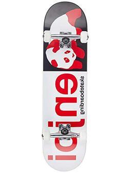 """Enjoi Half and Half FP Complete Skateboard,Black/Red,31.6"""" L"""