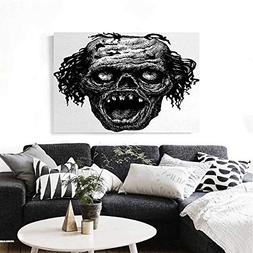 homehot Halloween Modern Canvas Painting Wall Art Zombie Hea