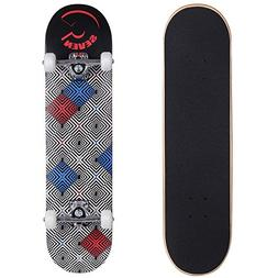 Cal 7 Illusion 7.5 Complete Skateboard 52x31 100A Wheels 5 I