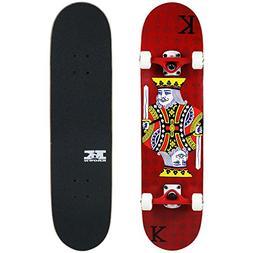 Krown Intro King Skateboard, King Red