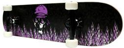 Krown Intro Skateboard, Purple Flame