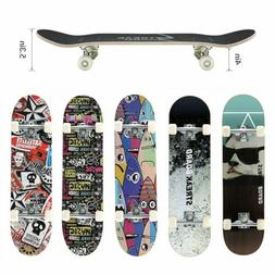 "Kids Trick Complete Skateboard 31""x 8"" Double Kick Concave S"