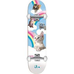 Enjoi Skateboards Kitten Slumber White/Blue Complete Skatebo