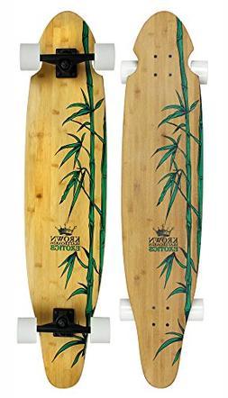 Krown Krex 2 Bamboo Kicktail Complete Longboard, 9x43-Inch