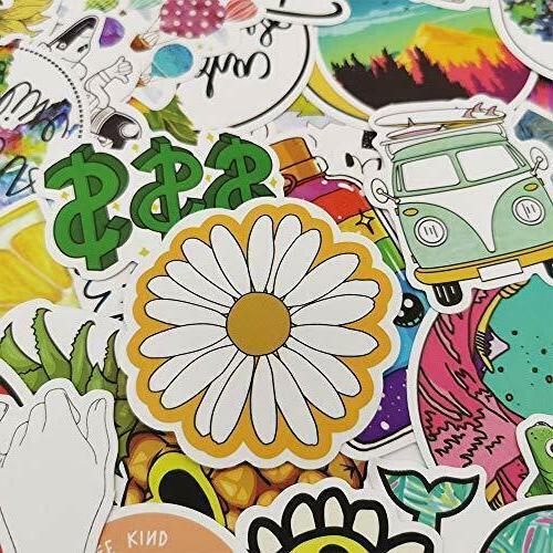 103pcs Cute Bottle Skateboard Laptop Sticker