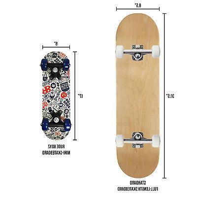 RudeBoyz Inch Wooden Cruiser Beginner for
