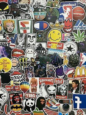 200 Skateboard Laptop Dope Sticker Lot Longboard