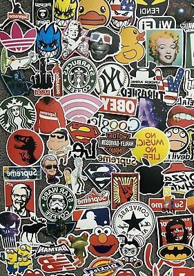 200 Stickers Laptop Luggage Sticker Lot Longboard