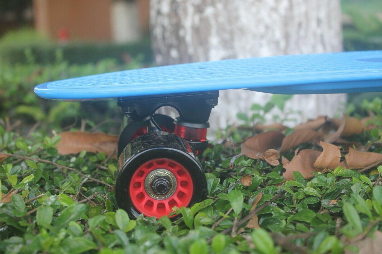 "22"" Skateboard Board Plastic Rebound PU Wheels Shipping"