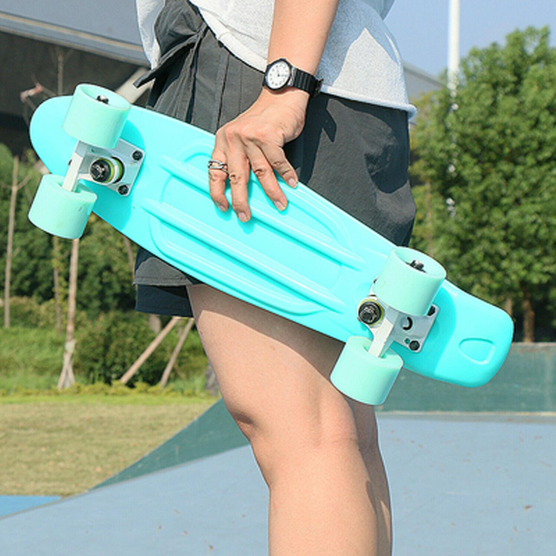 "22"" Board Plastic Deck High Rebound PU Wheels Ups Shipping"