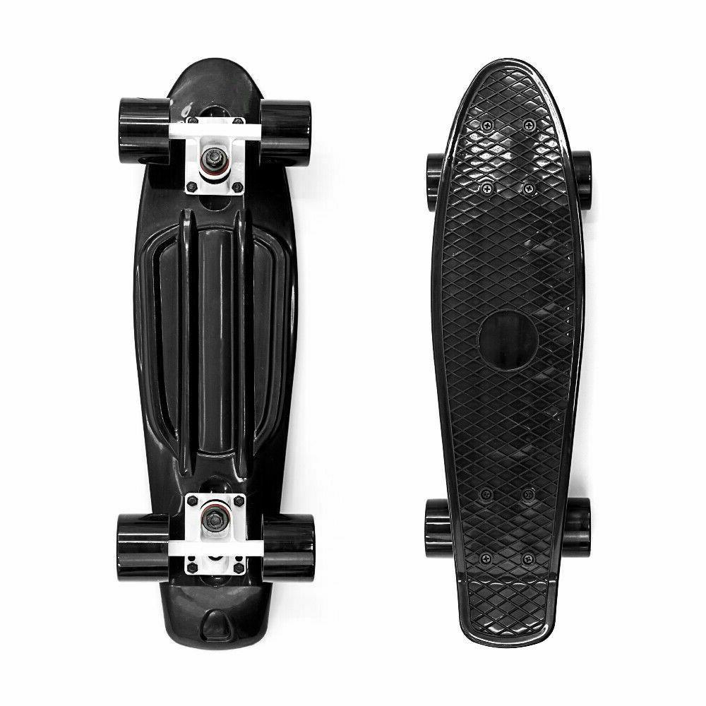 "22"" Skateboard Cruiser Plastic Deck Board Ups Free"