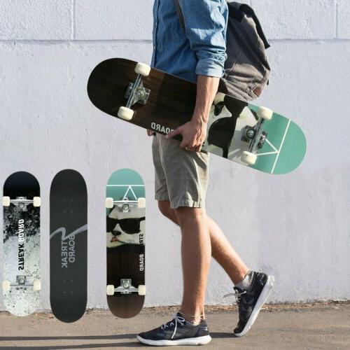 31 x 8 professional skateboard double kick
