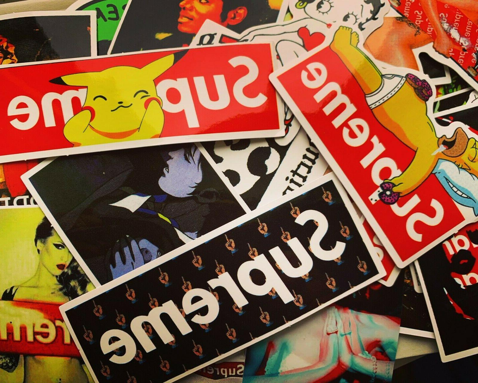 50 hypebeast stickers for hydro flasks laptops