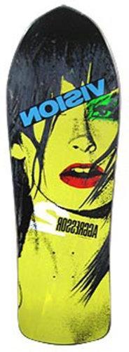 Vision Aggressor 2 Reissue Skateboard Deck, Black, 10.25 x 3