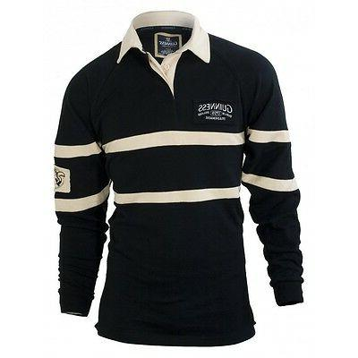 black and cream long sleeve authentic rugby