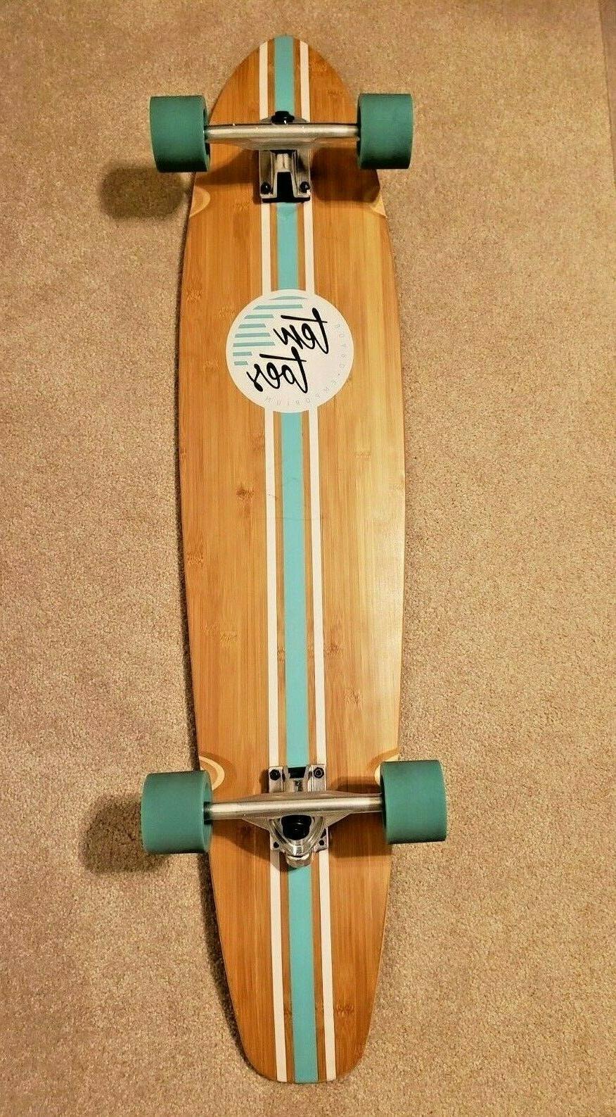 board zed bamboo longboard skateboard