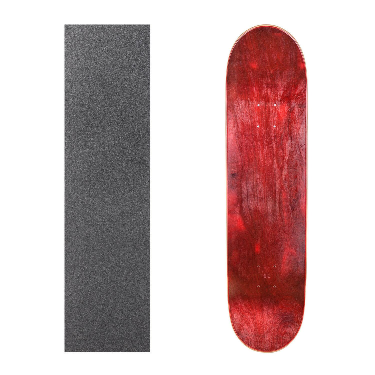 """Cal 7 Blank Maple Skateboard Deck 7.75"""" 8"""" 8.25"""" with Grip T"""