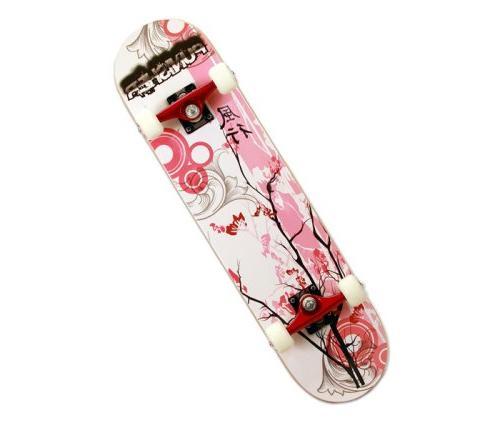 Punisher Blossom Complete Skateboard, Red, 31-Inch