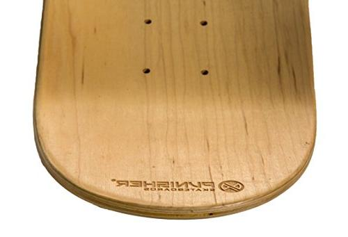 """Pro-Series Deck from Cold-Forged Canadian Maple, 7.75"""", Blue/Green"""
