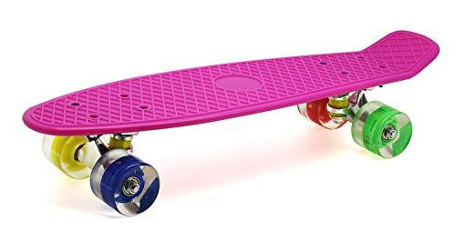 Merkapa Skateboard with Colorful Light Up Wheels