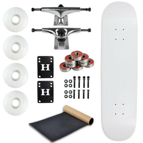 Moose Complete Skateboard DIPPED WHITE 7.75 Silver/White